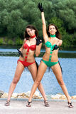 Two girls in bikini Royalty Free Stock Photos