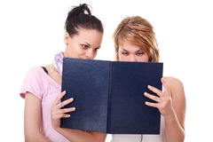Two  girls with books Royalty Free Stock Photography