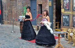 Two girls at the Camden Stables Market Royalty Free Stock Images