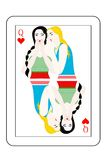 Two girls card Royalty Free Stock Photography