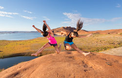 Two Girls Celebrating Royalty Free Stock Image