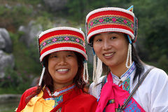 Two girls in China Stock Photos