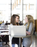 Two girls with a computer Royalty Free Stock Image