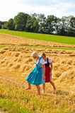 Two girls in Dirndl Royalty Free Stock Photo