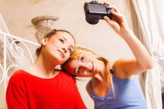 Two girls doing themselves photo Stock Photo