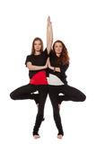 Two girls doing yoga Royalty Free Stock Photography