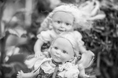 Two girls dolls Royalty Free Stock Photo