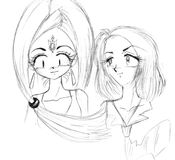 Two girls drawing royalty free stock image