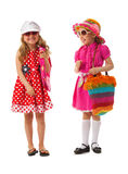 Two girls are dressed for summer Stock Images