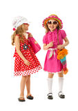Two girls are dressed for summer Stock Image