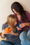 Two Girls Drinking Coffee Royalty Free Stock Image