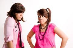 Two girls emo Stock Photography