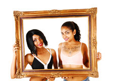 Two girls in frame. Stock Images