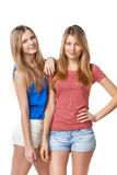Two girls friends Stock Photography