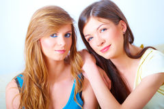 Two girls friendship Stock Image