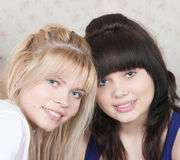 two girls of girlfriends Royalty Free Stock Photography