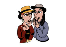 Two girls gossip Stock Images