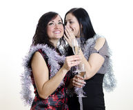 Two girls gossiping Royalty Free Stock Photography