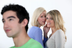 Two girls gossiping Royalty Free Stock Photos
