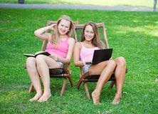 Two girls have a rest Stock Photos