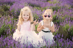 Two girls having fun Royalty Free Stock Photo
