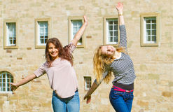 Two girls having fun Stock Photo