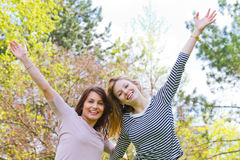 Two girls having fun Royalty Free Stock Photo