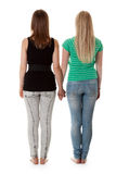 Two Girls In Jeans Royalty Free Stock Photo