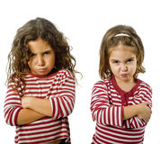 Two Girls In Quarrel Stock Image