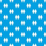 Two girls lesbians pattern seamless blue Royalty Free Stock Photos