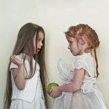 Two girls like angels Royalty Free Stock Photography