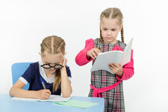 Two girls in my class Royalty Free Stock Images