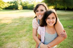 Two girls outside Royalty Free Stock Photo