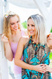 Two girls in the park Royalty Free Stock Photos