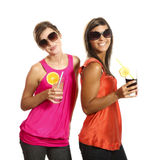 Two girls at a party Royalty Free Stock Photo