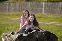 Two Girls Play Pretend. Royalty Free Stock Images