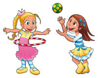 Two girls are playing. Royalty Free Stock Photo