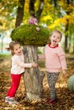 Girls in the autumn park Royalty Free Stock Photography