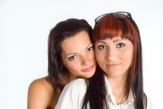 Two girls posing Stock Image
