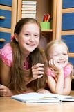 Two girls reads book Royalty Free Stock Photography