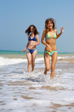 Two girls at the sea Royalty Free Stock Image