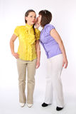 Two girls share secrets Royalty Free Stock Photo