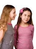 Two girls sharing ideas Royalty Free Stock Photo