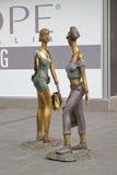 Two Girls Shoppers Skopje Stock Photos