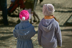 Two girls-sisters from back Royalty Free Stock Photography