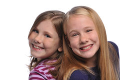Two girls smiling Stock Photo