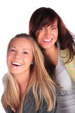 Two girls smiling Stock Photography