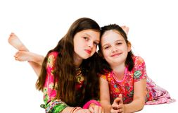 Two girls smiling Royalty Free Stock Photography