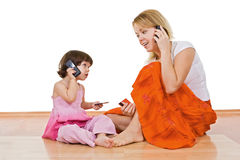 Two girls speaking Royalty Free Stock Photo
