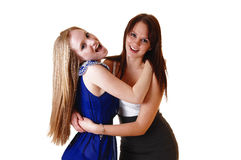 Two girls standing. Stock Photography